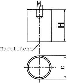 Magnet Stabgreifer AlNiCo mit Innengewinde - Magnets and